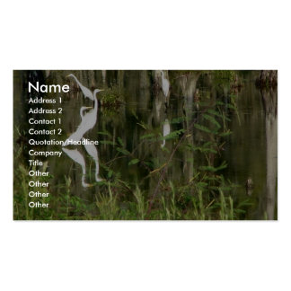 Beautiful Group Of Louisiana Herons Finding Food I Double-Sided Standard Business Cards (Pack Of 100)