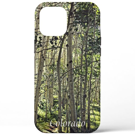 Beautiful Grove of Aspen Trees in Crested Butte iPhone 12 Pro Max Case