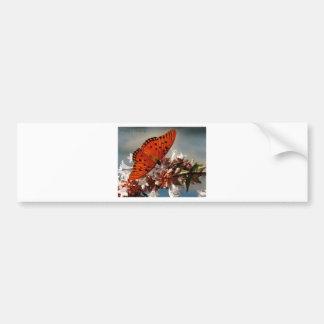 Beautiful Gulf Fritillary Butterfly Bumper Sticker
