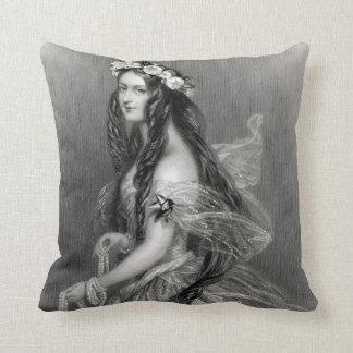 Beautiful GYPSY bride wedding day vintage Throw Pillow