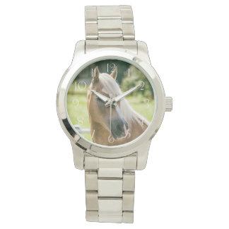 Beautiful haflinger horse portrait wristwatch