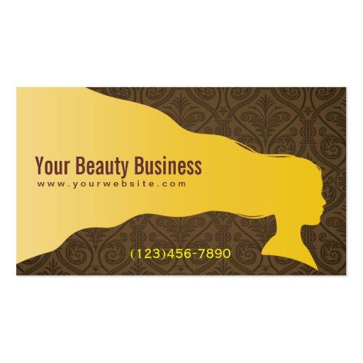 Beautiful Hair & Beauty SPA Damask Business Card