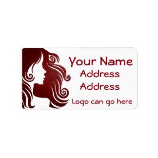 Beautiful hair stylist label