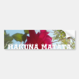 Beautiful Hakuna Matata red rose blue sky Bumper Sticker