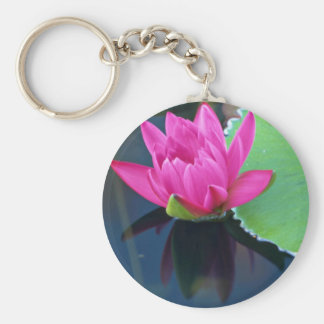 Beautiful Half bloomed red water lily Keychain