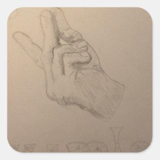 Beautiful hand drawn snapple idea square sticker