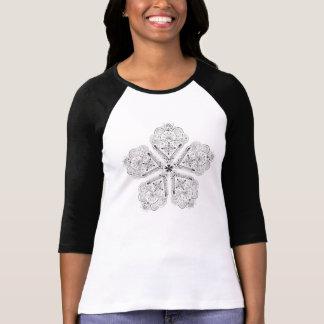 Beautiful Hand Illustrated Boho Artsy Flower Tee Shirt