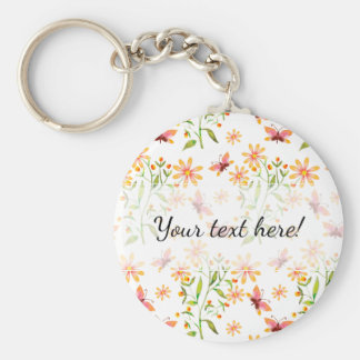 Beautiful Hand Painted Watercolor Butterflies Keychain