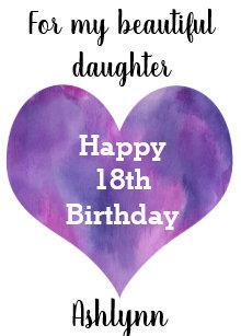 Beautiful Happy 18th Birthday Daughter Card