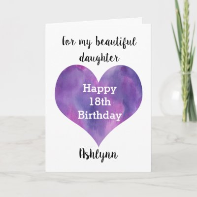 18th Birthday Daughter Butterfly Black White Card