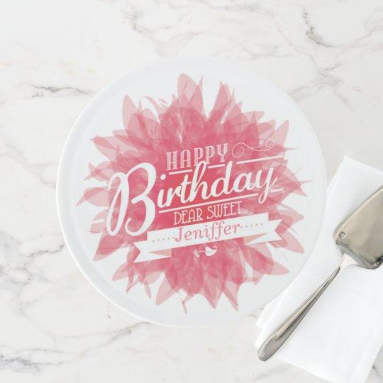 Beautiful Happy Birthday Cake Stand