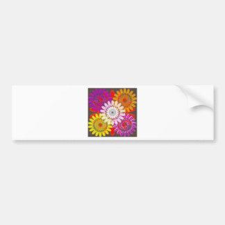 Beautiful HAPPY CHAKRA Sunflower Greetings GIFTS Car Bumper Sticker
