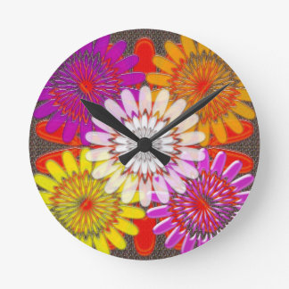 Beautiful HAPPY CHAKRA Sunflower Greetings GIFTS Round Wallclock