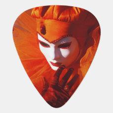 Beautiful Harlequin Guitar Pick