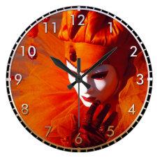Beautiful Harlequin Large Clock