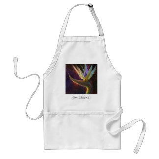 Beautiful Hawaiian White Bird of Paradise Apron