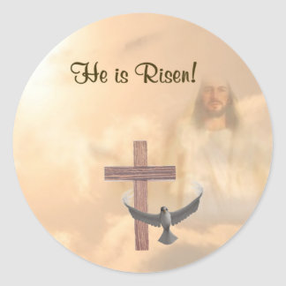 Beautiful He is Risen!  Stickers