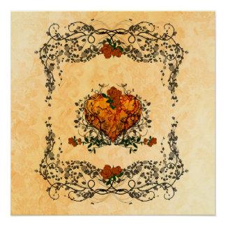 Beautiful heart poster
