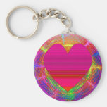 Beautiful Heart Sunset Keychain