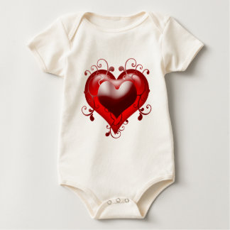 Beautiful Heart with Added Details Baby Bodysuit