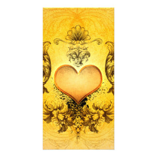 Beautiful heart with floral elements card