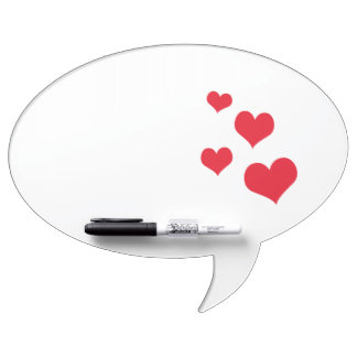 Beautiful hearts dry erase whiteboards