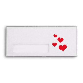 Beautiful hearts envelope