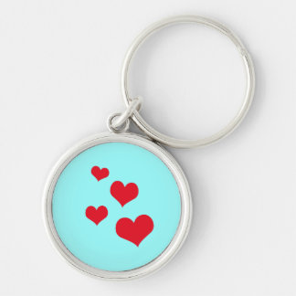 Beautiful hearts key chains