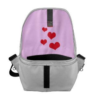 Beautiful hearts messenger bag
