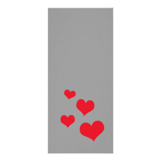 Beautiful hearts rack card template