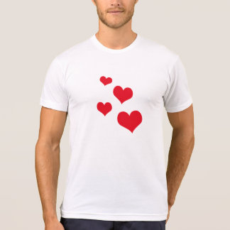 Beautiful hearts t shirts