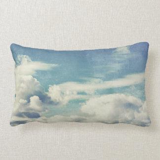 Beautiful Heavenly Retro Clouds Cloudy Sky Artwork Lumbar Pillow