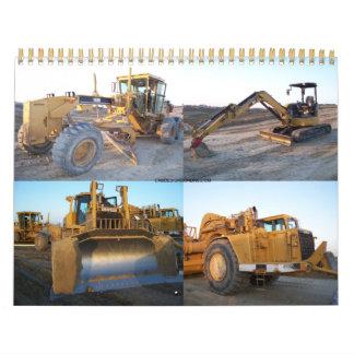 Beautiful Heavy equipment calendar
