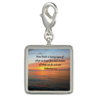 BEAUTIFUL HEBREWS 11:1 SUNRISE DESIGN CHARM