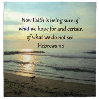 BEAUTIFUL HEBREWS 11:1 SUNRISE NAPKIN