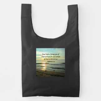 BEAUTIFUL HEBREWS 11:1 SUNRISE REUSABLE BAG