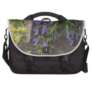 beautiful herbal background laptop computer bag