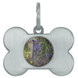 beautiful herbal background pet tag