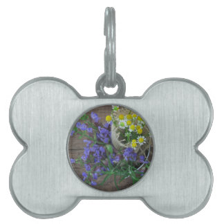 beautiful herbal background pet tags