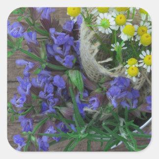 beautiful herbal background sticker