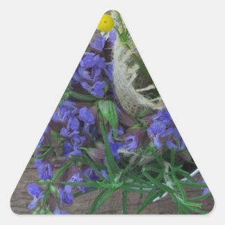 beautiful herbal background triangle sticker