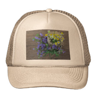 beautiful herbal background trucker hat