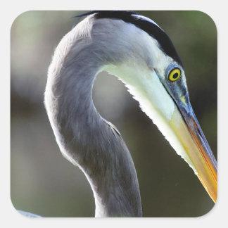 Beautiful Heron Square Sticker