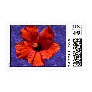 Beautiful Hibiscus Flower Birthday Postage Stamp