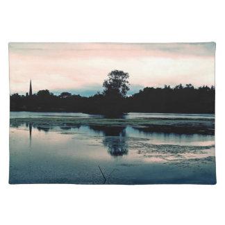 Beautiful Hillsborough Lake Reflection Place Mats