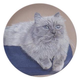 Beautiful Himalayan Cat Plate