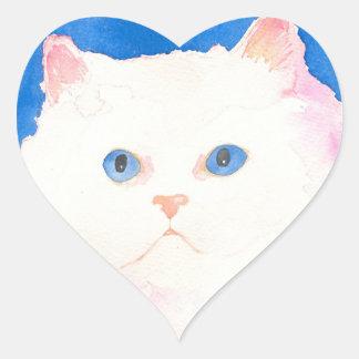 Beautiful Himalayan Kitten Heart Sticker