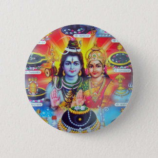 Beautiful Hindu Dieties and Goddesses Button