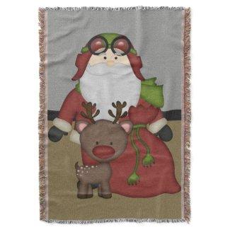 Beautiful Holiday Custom Christmas Throw Blanket