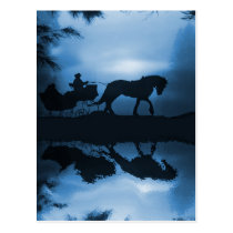 Beautiful Holiday Horse Drawn Sleigh Postcards